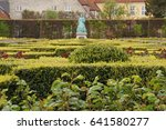 Green labyrinths - stock photo