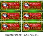 Santa Claus Discount Note - stock vector