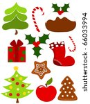 Christmas collection of icons. Vector illustration - stock vector