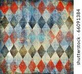 retro denim background with rhombus patterns - stock photo