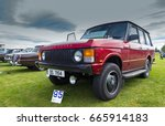 TAIN, SCOTLAND - JUNE 18 2017: Classic Range Rover at a Vintage Rally. - stock photo