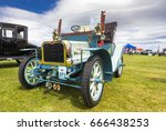 TAIN, SCOTLAND - JUNE 18 2017: Vintage Century at Tain, Scotland. Century was a British car maker that produced cars until 1907. - stock photo