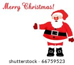 Santa Claus on a white background, with space for your text - stock vector