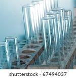 science biology medical test tube macro - stock photo