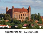 Teutonic castle in Gniew at the summer, Poland - stock photo