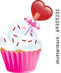 Vector Illustration of six different Valentine Sweets. - stock vector