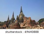Wat Phra Sri Sanphet, Ayutthaya, Thailand - stock photo