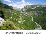 Canyon in the Provence, France - stock photo