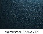 water drops on dark blue - stock photo