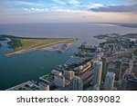 View of Toronto city from above - stock photo