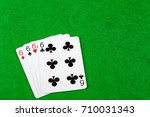 4 of a kind playing cards Sixes - stock photo
