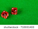 Craps dice showing double two - stock photo