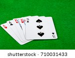 Poker hand showing two pair - stock photo