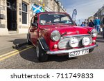 GRANTOWN ON SPEY, SCOTLAND - September 3 2017: Classic Mini Cooper at a vintage rally - stock photo