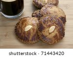 Dutch almond cookies, called gevulde koek or picolientje.  Tasty with coffee! - stock photo