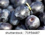 Black olives . - stock photo