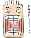 open mouth - stock vector