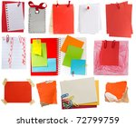red tags and notes collection - stock photo