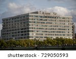 London, 28th September 2017:-St Thomas' hospital located on the banks of the River Thames - stock photo