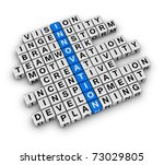 New Business Innovation (cubes crossword) - stock photo