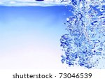 bubbles in water - stock photo