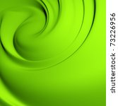 Abstract green whirlpool. Clean, detailed render. Backgrounds series. - stock photo
