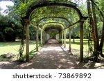 Arched Pergola - stock photo