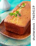 home made cakes on the wooden plate - stock photo