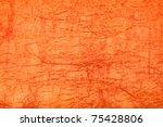 Orange background - crumpled paper - stock photo