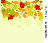 Autumn colorful leaves background for seasonal design. Jpeg version also available - stock vector