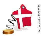 Denmark Flag Spring Banner - stock photo
