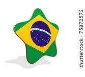 Brazil flag STAR BANNER - stock photo