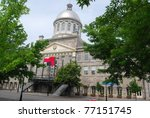 Market Place in Montreal, Canada - stock photo