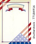 American scratched letter. A patriotic background for a poster - stock photo