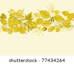 Autumn leaves background for fall or thanksgiving design. Vector version also available in gallery - stock photo