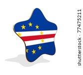 Cape Verde flag STAR BANNER - stock photo