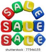 Sale plasticine letter on a white background - stock photo
