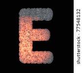 Hot iron font - stock photo