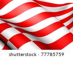 Flag of Bremen, Germany. Close up. - stock photo