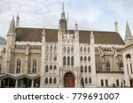 London, United Kingdom - October 30th, 2017:- The Guildhall of the City of London - stock photo