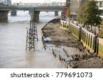 London, United Kingdom - October 30th, 2017:- Banks of the River Thames as it flows through London - stock photo