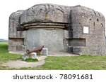world war two bunker in normandy france - stock photo