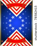 Poster of USA. A new poster for the 4 th July - stock vector