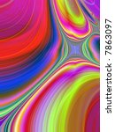 bright neon abstract page design illustration background swirl - stock photo
