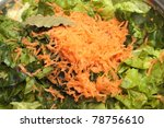 Salad - green salad and carrot - stock photo