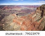 grand canyon arizona usa showing strata and geology and colors in rock layers - stock photo