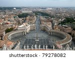 Saint Peter's Square. Rome. Italy. - stock photo