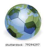 World globe soccer football ball concept illustration - stock vector