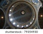 Dome of Saint Peter's Basilica - stock photo