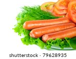 hot dogs - stock photo